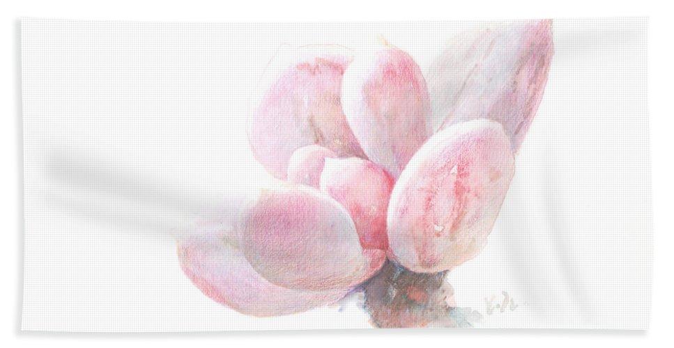 Watercolor,plant,succulent Plants Hand Towel featuring the painting Succulent Plants by Huai Yan