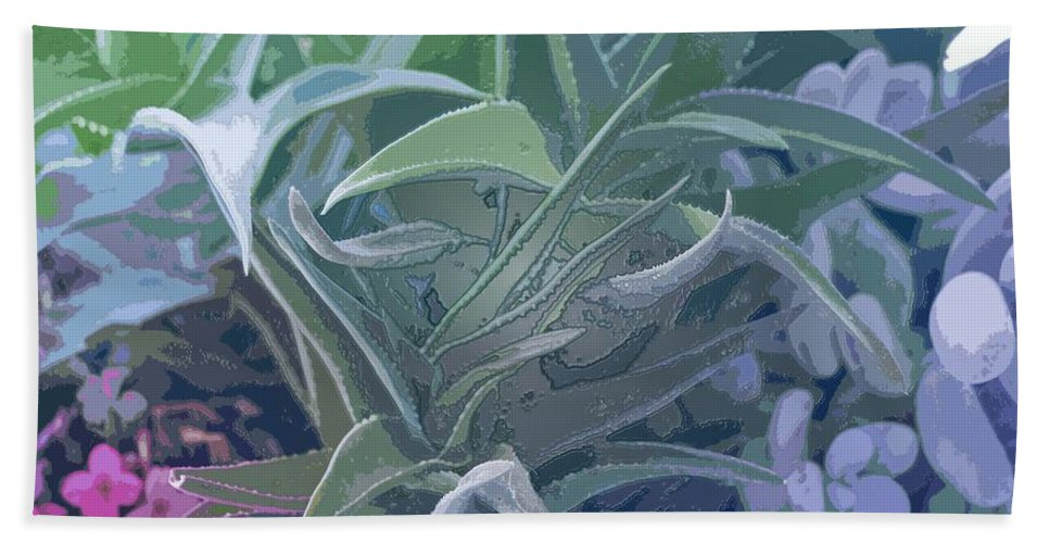 Century Plant Hand Towel featuring the photograph Succulents I by Linda Dunn