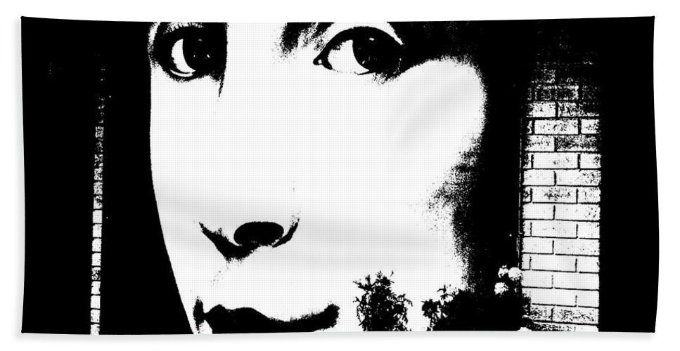 Woman Hand Towel featuring the photograph Such Lips... by Steve Harrington