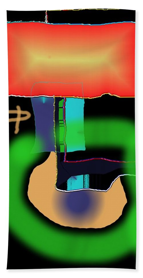 Mouse Bath Towel featuring the digital art Suddenclicks by Helmut Rottler