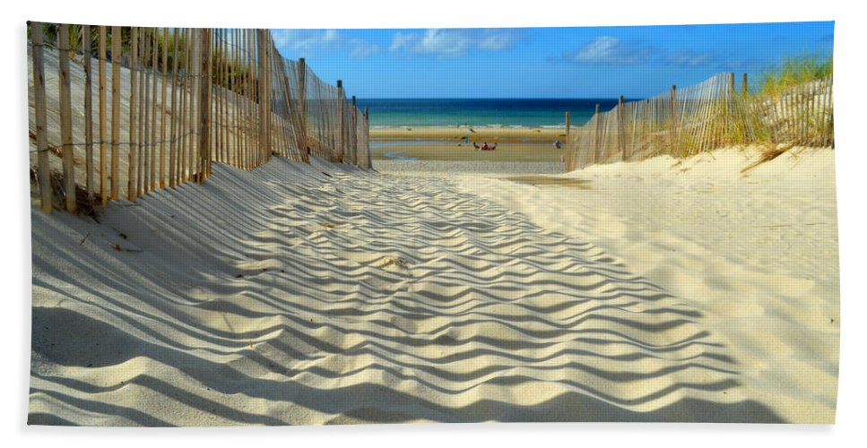Beach Bath Sheet featuring the photograph Sultry September Beach by Dianne Cowen