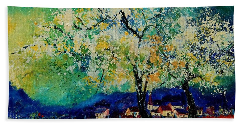 Spring Hand Towel featuring the painting Summer 5691235 by Pol Ledent