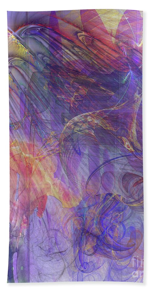 Summer Awakes Bath Sheet featuring the digital art Summer Awakes by John Beck