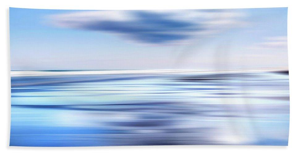 Beach Bath Sheet featuring the photograph Summer Beach Blues by Bill Wakeley