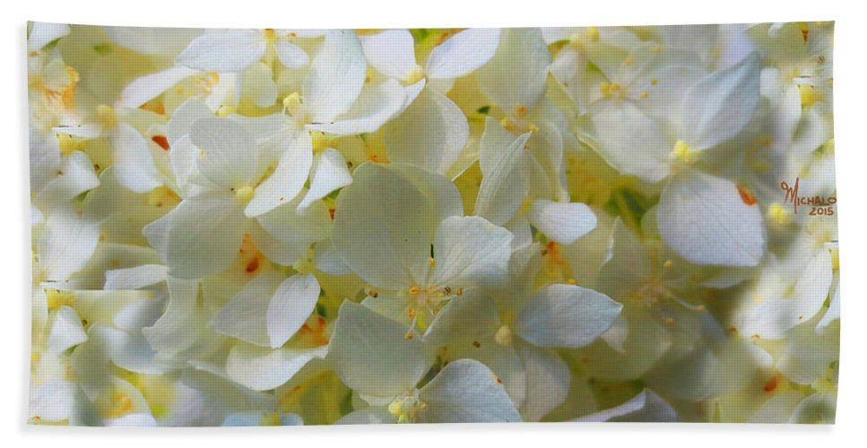 Flowers Bath Sheet featuring the mixed media Spring Blossoms by Michael A Klein