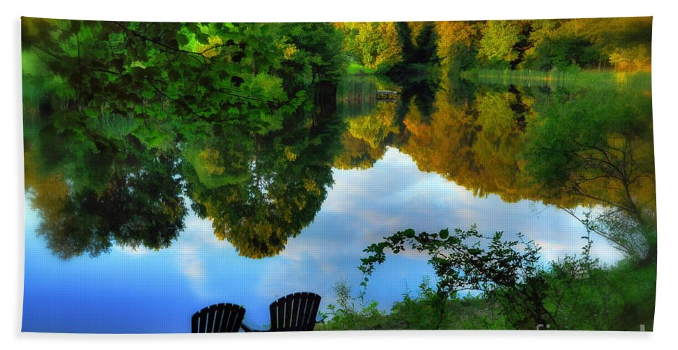 Pond Hand Towel featuring the photograph Summer Breeze by Lois Bryan