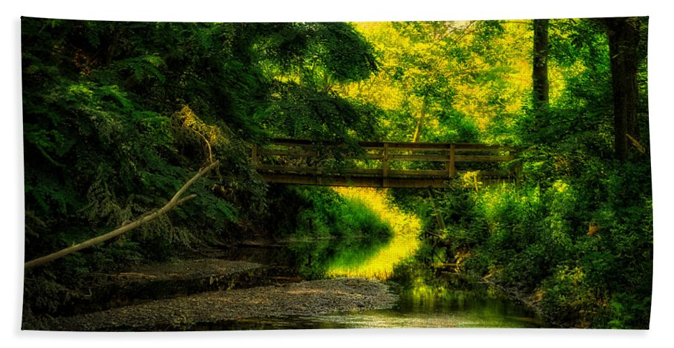 Creek Bath Sheet featuring the photograph Summer Creek by Thomas Woolworth