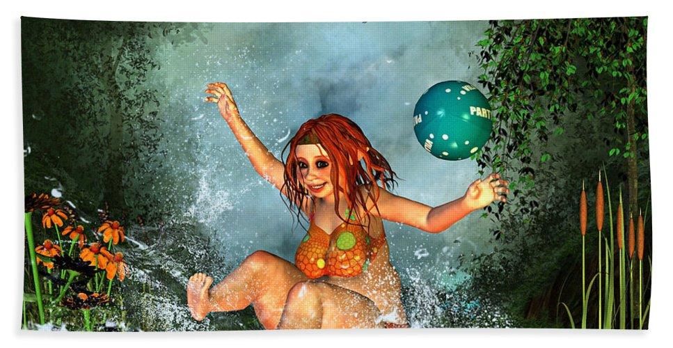 3d Bath Sheet featuring the digital art Summer Fun by Jutta Maria Pusl
