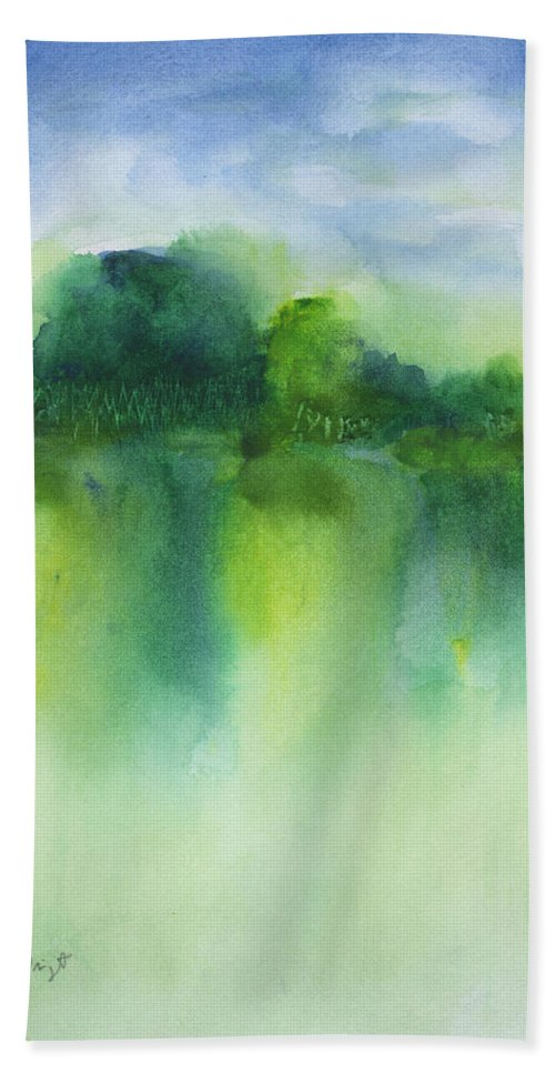 Summer Landscape Bath Sheet featuring the painting Summer Landscape by Frank Bright