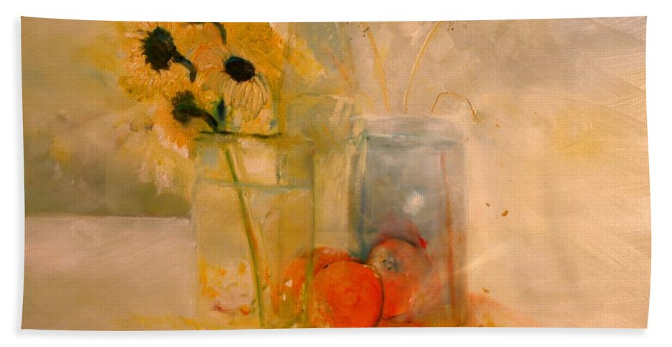 Daisey Bath Sheet featuring the painting Summer Light by Jack Diamond
