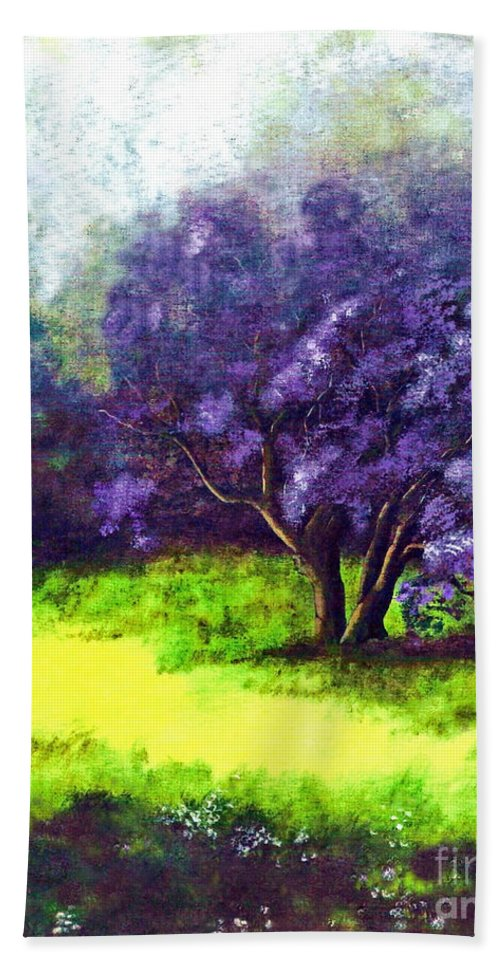 Fine Art Print Bath Sheet featuring the painting Summer Mist by Patricia Griffin Brett