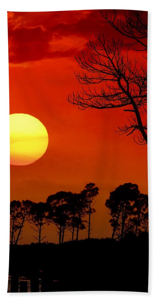Fort Walton Beach Hand Towel featuring the photograph Summer Nights by Janet Fikar