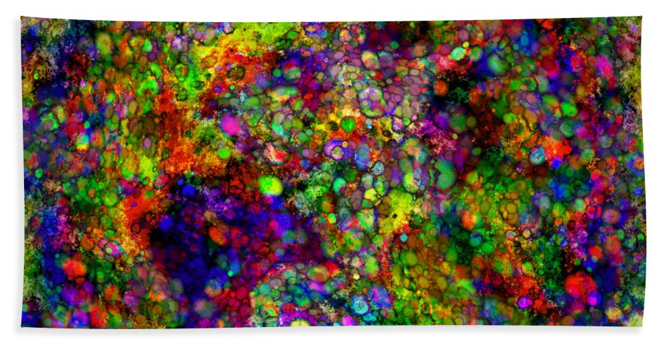 Abstract Hand Towel featuring the digital art Summer Of Love - Rembrance by Diane Parnell