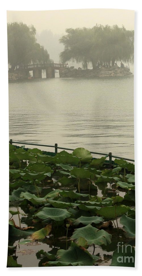 Summer Palace Bath Sheet featuring the photograph Summer Palace Serenity by Carol Groenen