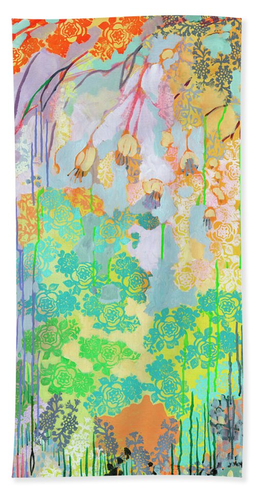 Tree Hand Towel featuring the painting Summer Rain Part 2 by Jennifer Lommers