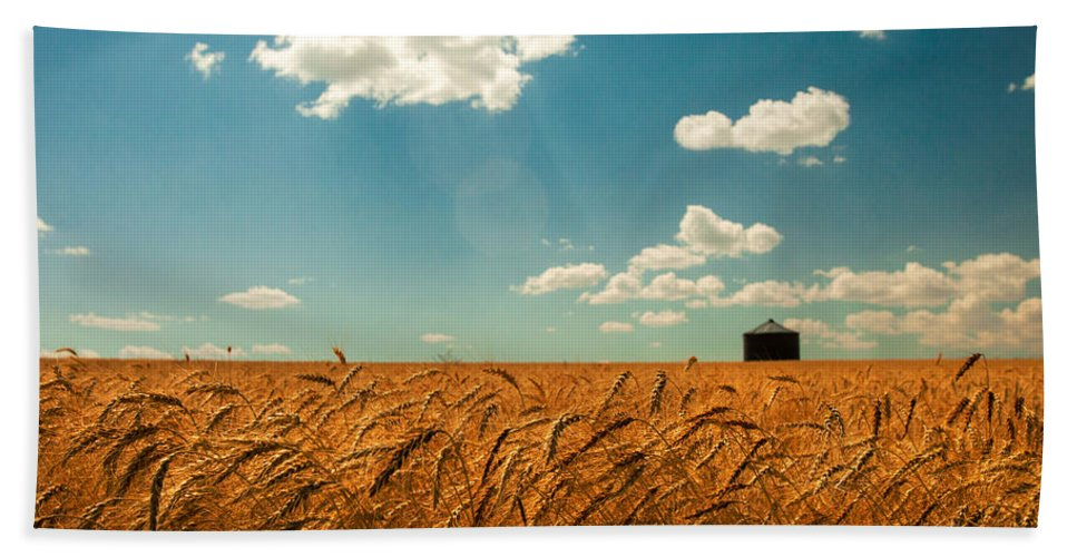 Landscape Hand Towel featuring the photograph Summer Respit by Todd Klassy