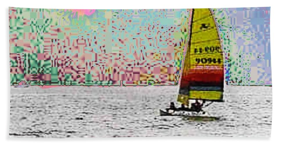 Sail Hand Towel featuring the photograph Summer Sailin by Tim Allen