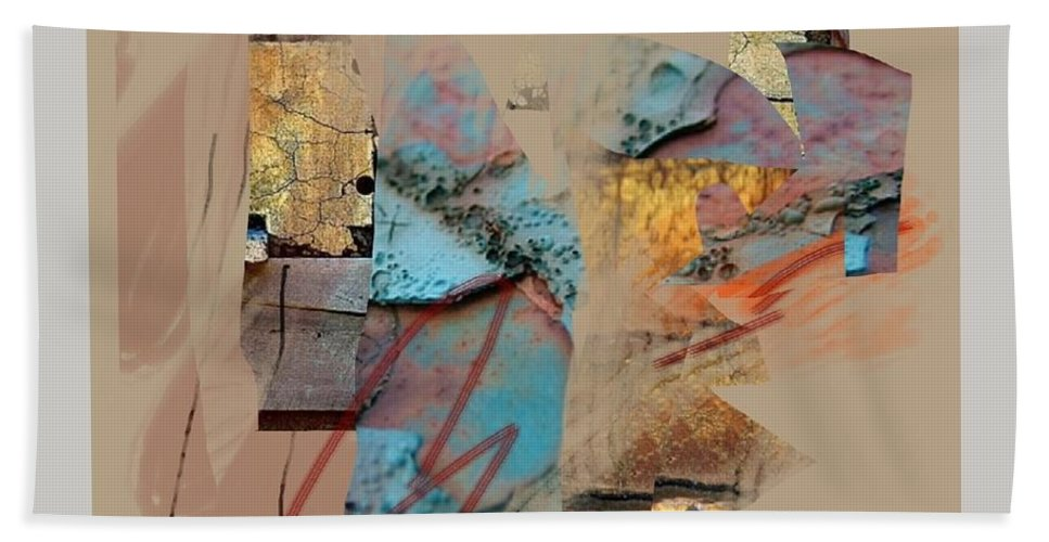 Mixed Media Bath Sheet featuring the mixed media Summer Slumber 1 by Janis Kirstein