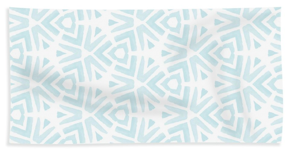 Pattern Hand Towel featuring the digital art Summer Splash- Pattern Art by Linda Woods by Linda Woods