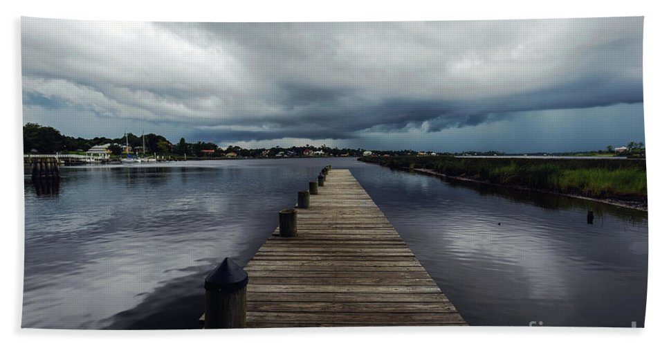 Landscape Bath Sheet featuring the photograph Summer Storm by Joan McCool