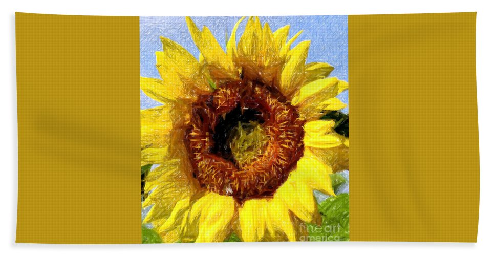 Sunflower Hand Towel featuring the photograph Summer Sunflower by Kathleen Struckle
