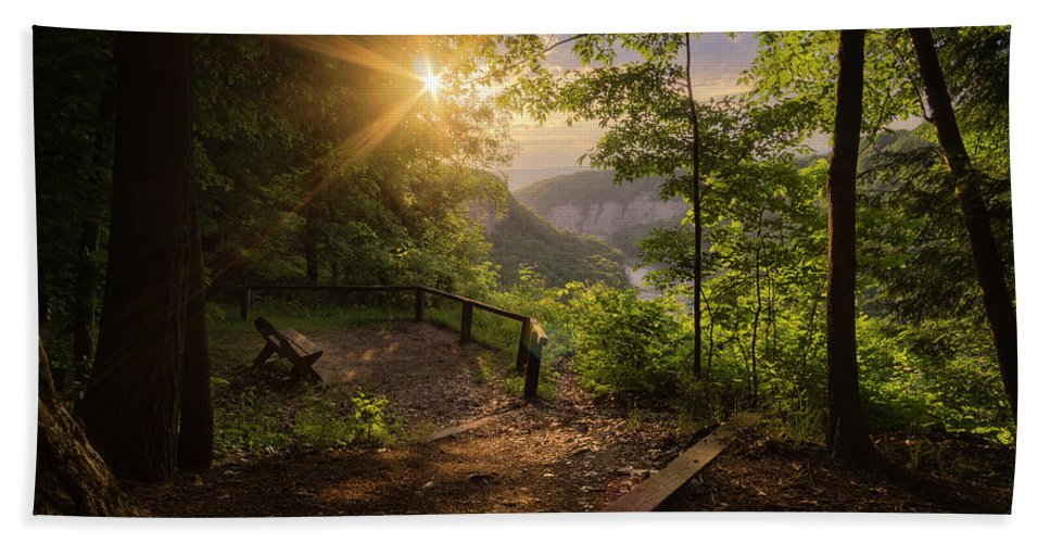 Sunrise Hand Towel featuring the photograph Summer Sunrise by Dustin Schwartzmeyer