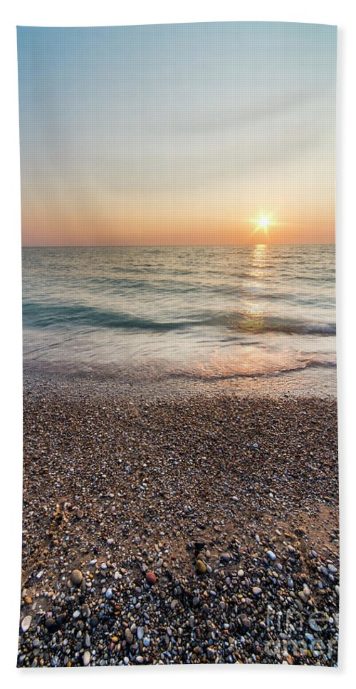 Pierport Bath Towel featuring the photograph Summer Sunset At Pierport by Twenty Two North Photography