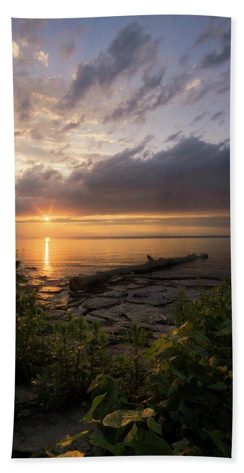 Sunset Hand Towel featuring the photograph Summer Sunset by Dustin Schwartzmeyer