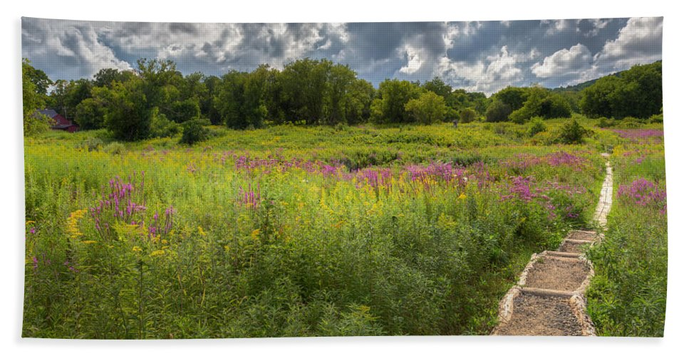 Wildflowers Bath Sheet featuring the photograph Summer Wildflower Pasture by Bill Wakeley