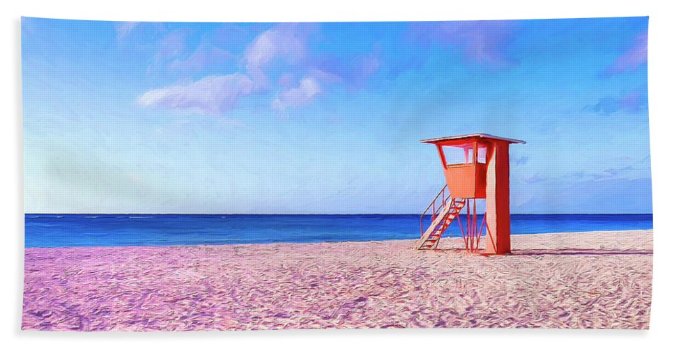 Beach Bath Sheet featuring the painting Summer's End by Dominic Piperata