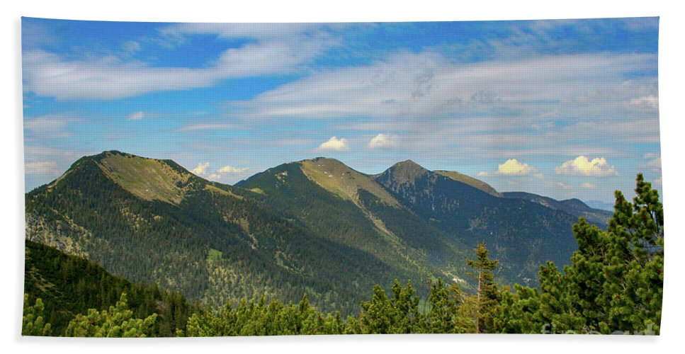 Alps Hand Towel featuring the photograph Summertime Alps In Germany by Amy Sorvillo