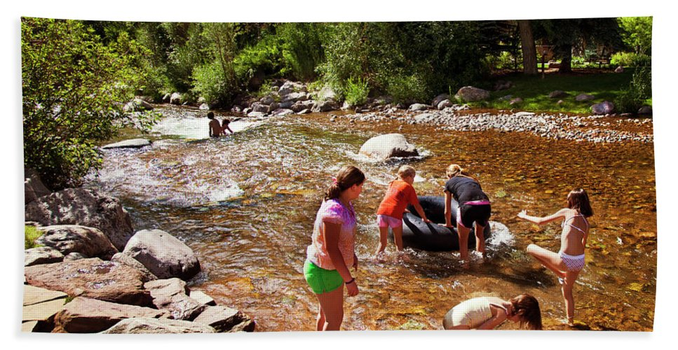 Summer Bath Sheet featuring the photograph Summertime Fun by Madeline Ellis