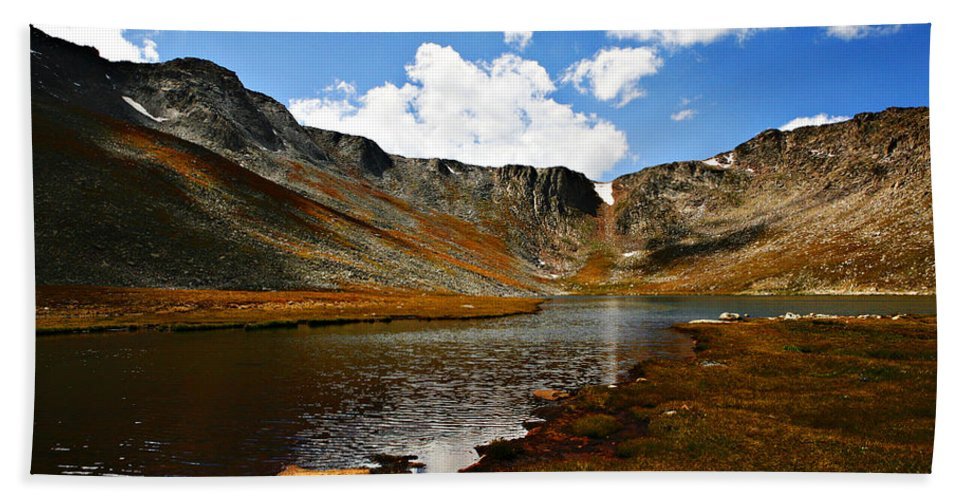 Travel Bath Towel featuring the photograph Summit Lake Colorado by Marilyn Hunt