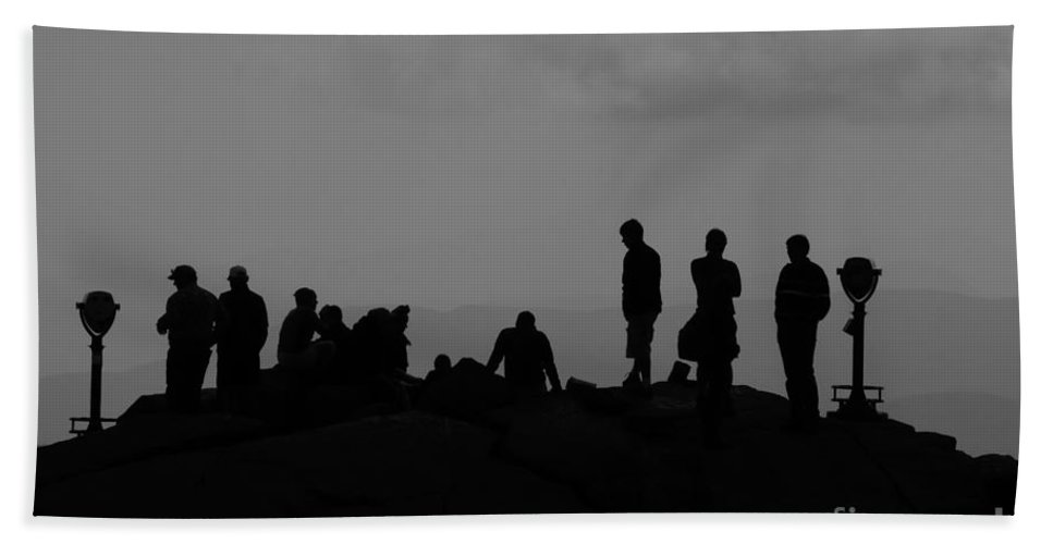 Summit Bath Sheet featuring the photograph Summit People by David Lee Thompson