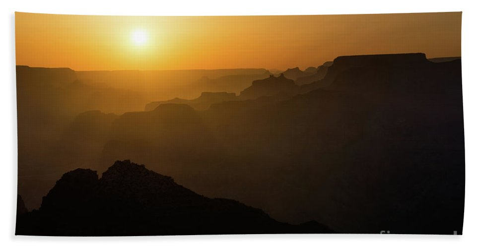 Grand Canyon National Park Bath Sheet featuring the photograph Sun And Layers by Jamie Pham