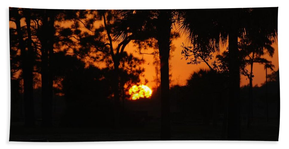 Nature Hand Towel featuring the photograph Sun Ball by Rob Hans