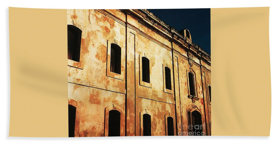 Buildings Bath Towel featuring the photograph Sun Kissed by Jeff Barrett