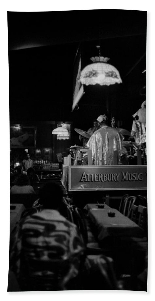 Jazz Hand Towel featuring the photograph Sun Ra Arkestra At The Red Garter 1970 Nyc 15 by Lee Santa