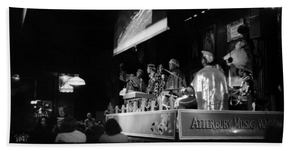 Jazz Bath Sheet featuring the photograph Sun Ra Arkestra At The Red Garter 1970 Nyc 19 by Lee Santa