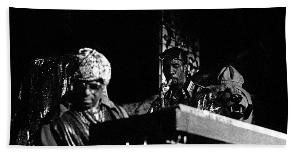 Jazz Hand Towel featuring the photograph Sun Ra Arkestra At The Red Garter 1970 Nyc 7 by Lee Santa