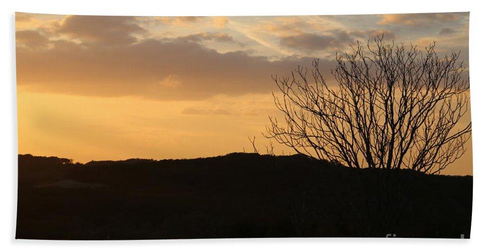 Bath Sheet featuring the photograph Sun Set Texas by Jeff Downs