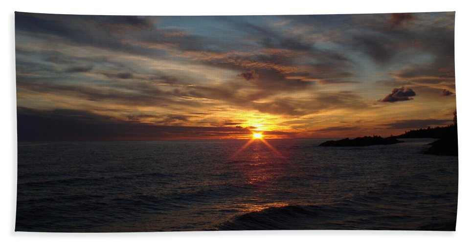 Sun Hand Towel featuring the photograph Sun Up by Bonfire Photography