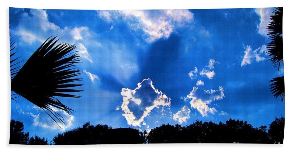 Digital Art Hand Towel featuring the photograph Sunburst by Eric Liller