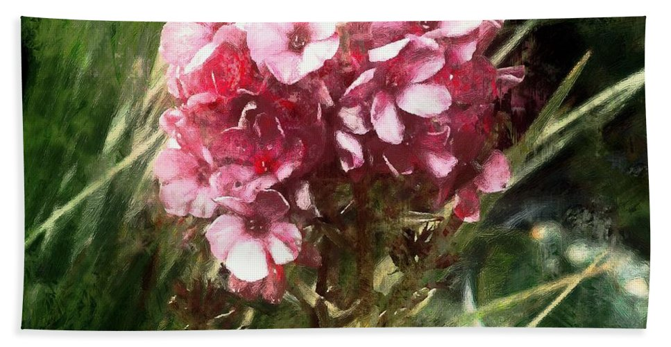 Flower Hand Towel featuring the painting Sundappled by RC DeWinter