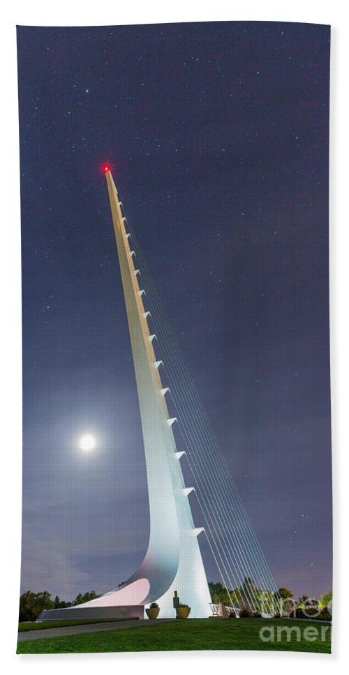 Sundial Bridge Hand Towel featuring the photograph Sundial Bridge 3 by Anthony Bonafede