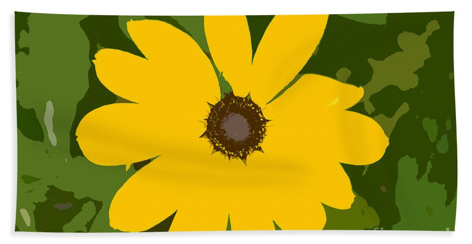 Sunflower Hand Towel featuring the photograph Sunflower Work Number 3 by David Lee Thompson