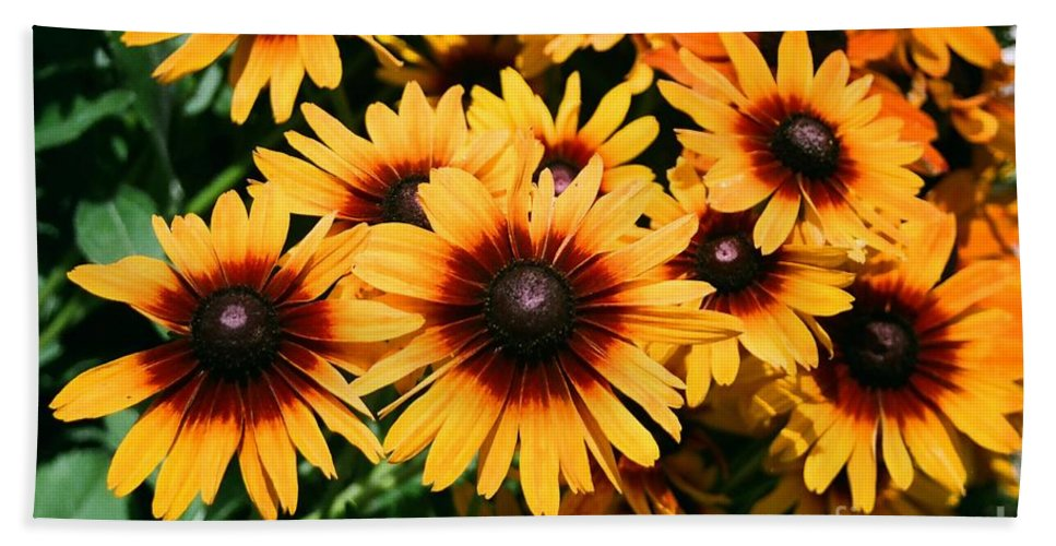 Sunflowers Bath Sheet featuring the photograph Sunflowers by Dean Triolo