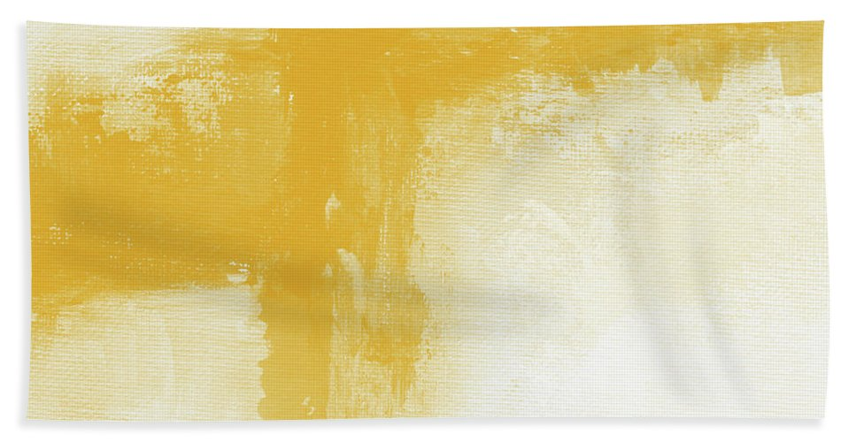 Abstract Bath Towel featuring the painting Sunny Day- Abstract Art By Linda Woods by Linda Woods