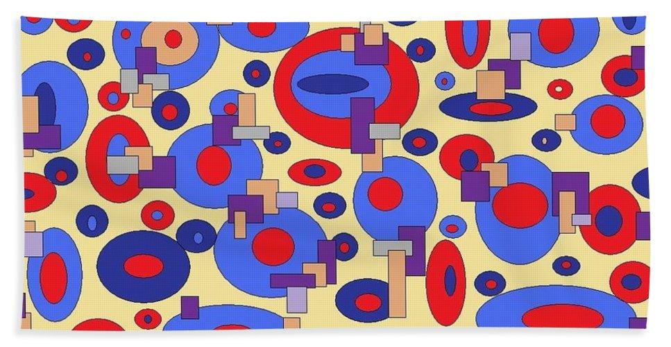 Digital Abstract Hand Towel featuring the digital art Sunny Sea by Jordana Sands