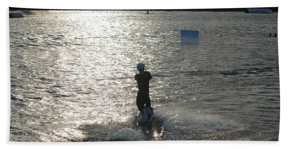 Sun Hand Towel featuring the photograph Sunny Waves by Rob Hans